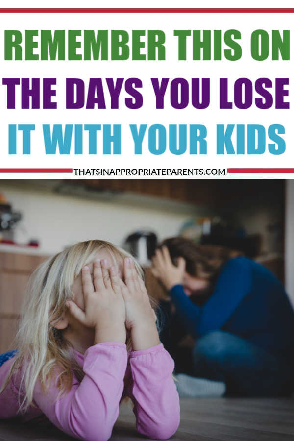 Motherhood is a challenging experience and it's important to remember that even mothers make mistakes. Here's what you need to remember on the days you lose it with your kids. #motherhood #patience #kids #momlife #filterfreeparents
