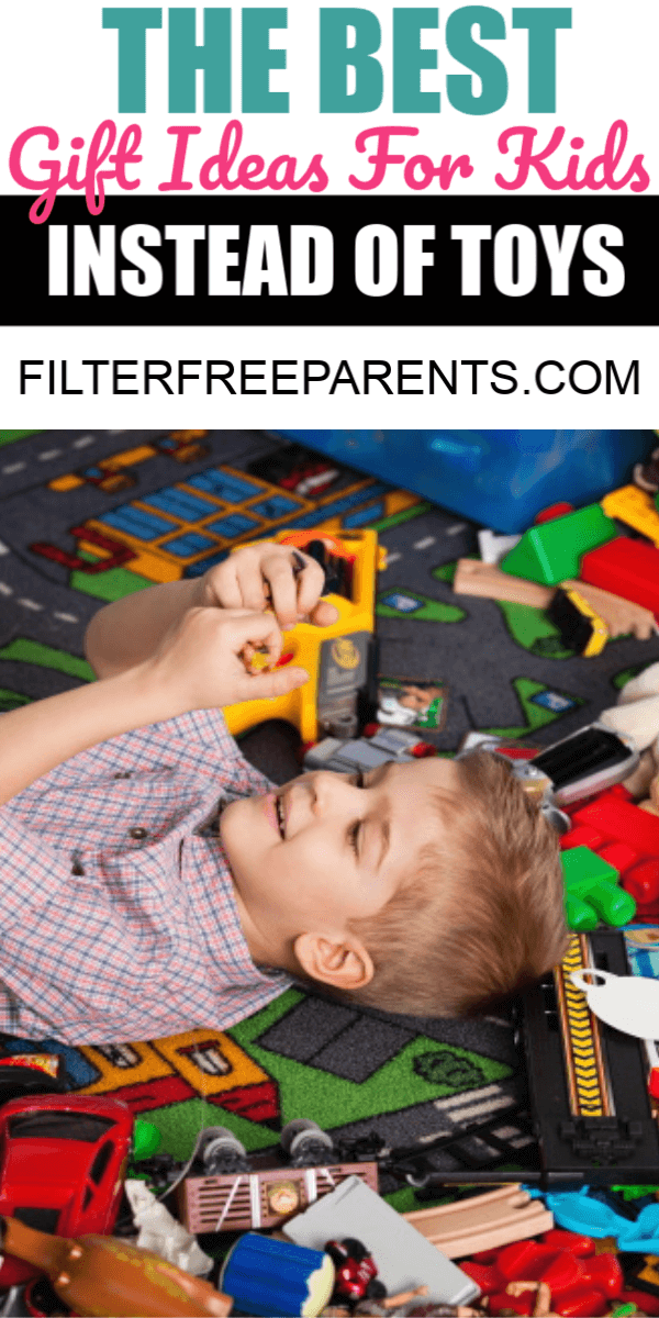 If you want to get your kids some non-toy gift ideas, this list is written by a mom, for moms on the perfect gift ideas for kids that aren't toys. #filterfreeparents #giftideas