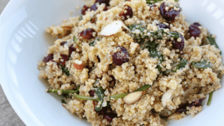 Cranberry Quinoa Salad with Lemon Vinaigrette