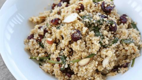 Cranberry Quinoa Salad with Lemon Vinaigrette