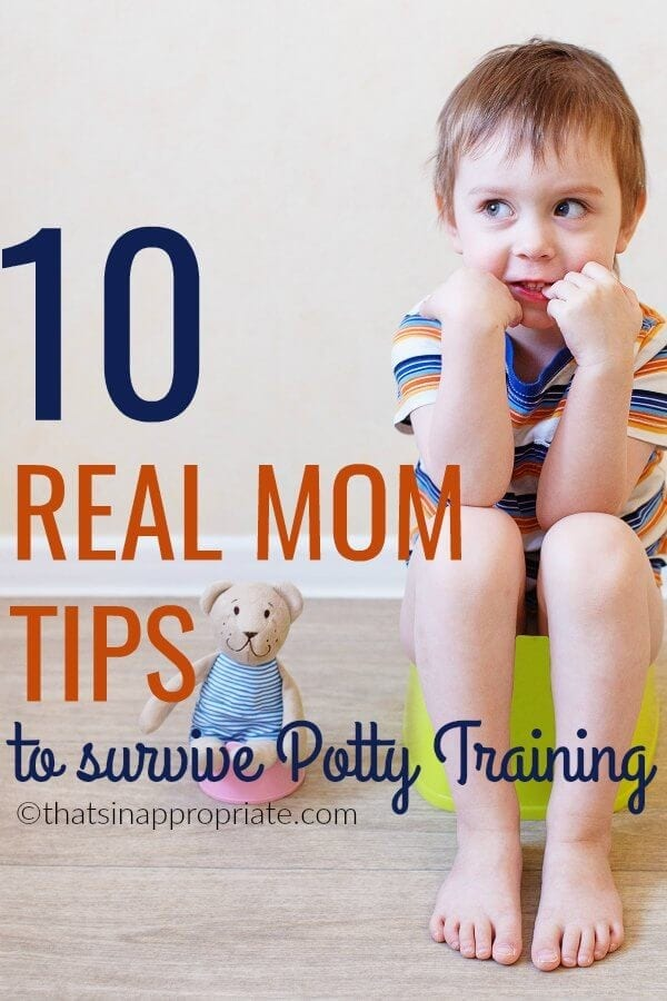 Are you starting potty training for the first time? These potty training tips and tricks from a real mom who has been there and done that will help you know what to expect and how to conquer one of the hardest parenting tasks out there. #pottytraining #momlife #tipsandtricks #potty #toddlers #kids #parenting #motherhood