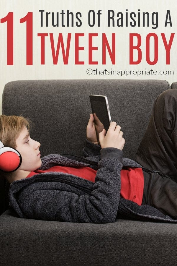 Raising a tween boy is fun and challenging. But, there are some truths that all parents know about raising a tween boy. Here are 11 truths all moms and dads know about raising a tween. #tween #tweens #momlife #motherhood #parenting #parenthood