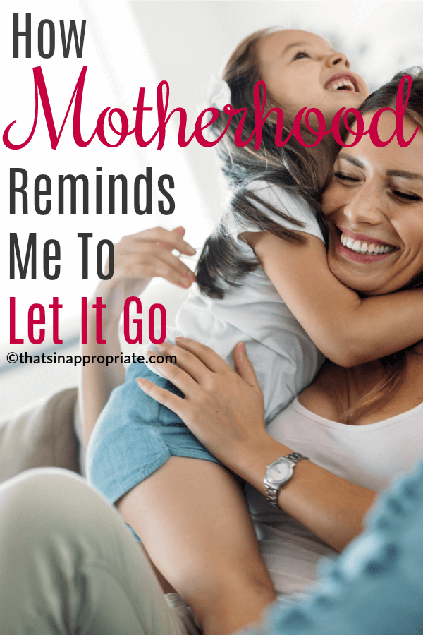 While letting go sometimes takes my breath away, I realize that it's the only way I can function. I have found, to my utter surprise, that when I truly let go, despite how uncomfortable it may make me feel (and it makes me feel very uncomfortable), the world does not stop turning. #motherhood #momlife #parenting #letitgo #parenthood