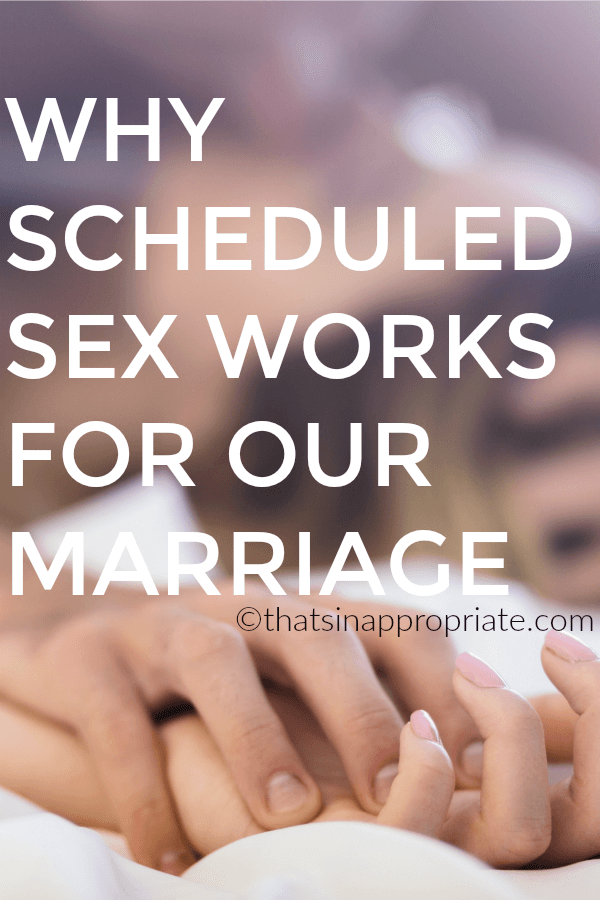 Keeping the spice alive in your sex life after marriage can sometimes be difficult. Here's why one couple schedules sex and how it might work for your marriage too. #momlife #marriage #sexlife #sex #parenting #motherhood #momlife #marriedlife