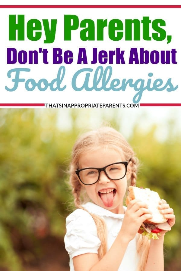 Living with food allergies is much harder on the kids than it is on those having to avoid peanut butter in schools. If your school is a nut free zone, here's why you shouldn't complain. #nutfree #allergies #foodallergies #momlife #peanutbutter #parenting