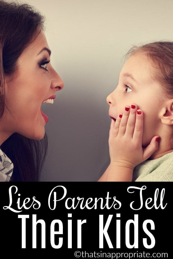 Little white lies are just part of the parenting process. If you feel bad for lying to your kids sometimes, you're not alone. Here are 16 lies all parents tell their kids #parenting #motherhood #momlife #humor #lies #lying #kids #parenthood