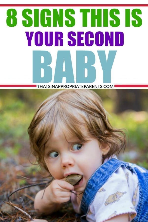 With your first baby, you are so careful and deliberate in your parenting. Things change just a bit when you have your second baby. There are 8 funny signs that you just had your second baby. #momlife #humor #funny #2ndkid #secondkid #kids