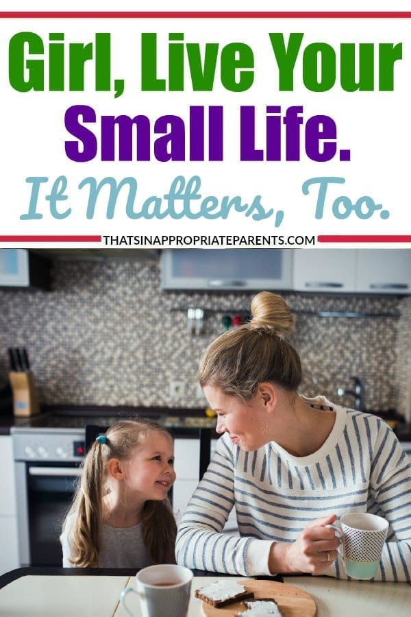 It's ok to not always be striving for some huge goal, or huge accomplishment. Living a small quiet life is important too. Love this powerful post. #momlife #motherhood #parenting #smalllife #thesimplethings