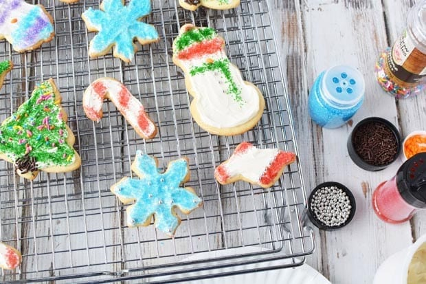 These super soft sugar cookies are perfect for Christmas. They are not hard and crunchy like some sugar cookies, and they will become your go - to sugar cookie to make for family and friends. #softsugarcookie #softsugarcookies #sugarcookies #sugarcookierecipe #christmascookies