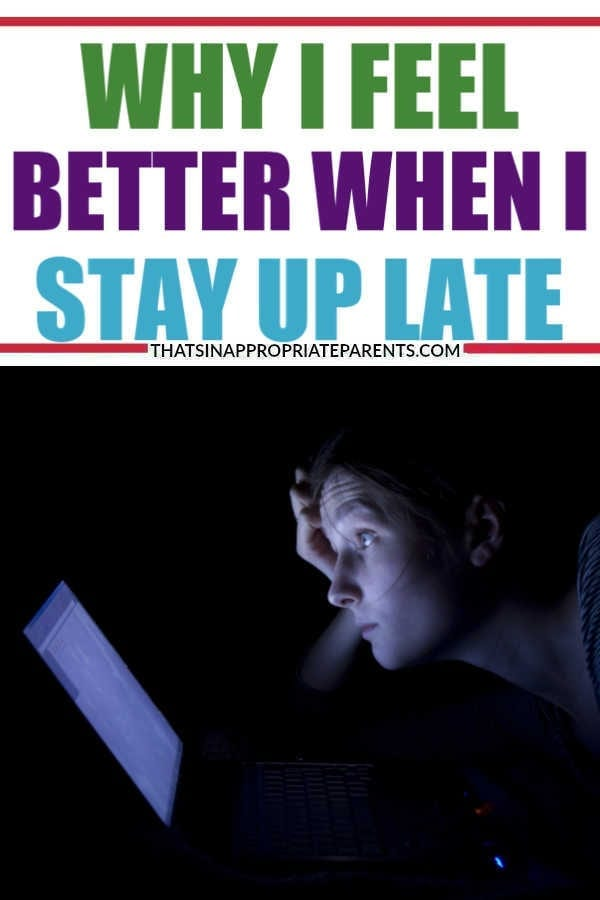Some new research has shown that getting less sleep can help with depression. But, is that the case for everyone? Here's why one mom says she feels better when she stays up late. #momlife #nightowl #sleep #sleephabits #depression