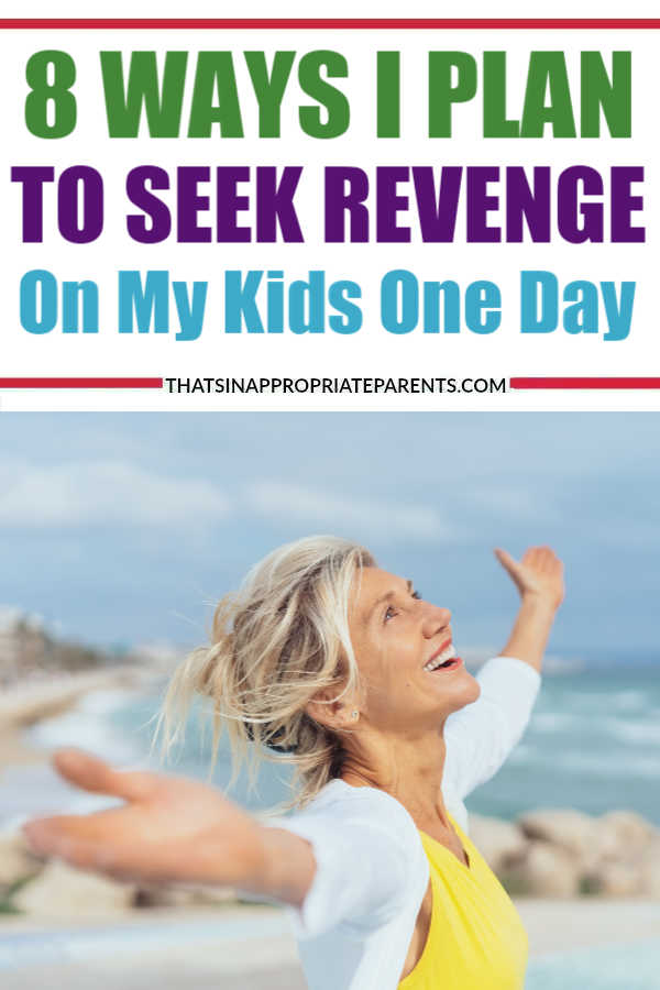 I'm always warning my kids all the ways I'm going to pay them back when I'm old and it's their turn to take care of me. It's going to be sweet, sweet, sweet revenge. Sometimes when it's a really rough day and I'm at my wit's end I start dreaming up new ways to torment my children in the future. #momlife #filterfreeparents #motherhood #thisisreallife #karma #revenge