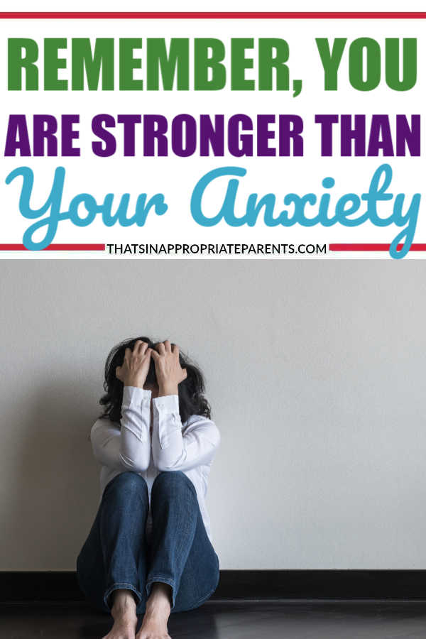 Remember, you are stronger than your anxiety. Trying to overcome mental illness looks different for everyone, but remember you are stronger than your anxiety. #anxiety #mentalhealth #mentalillness