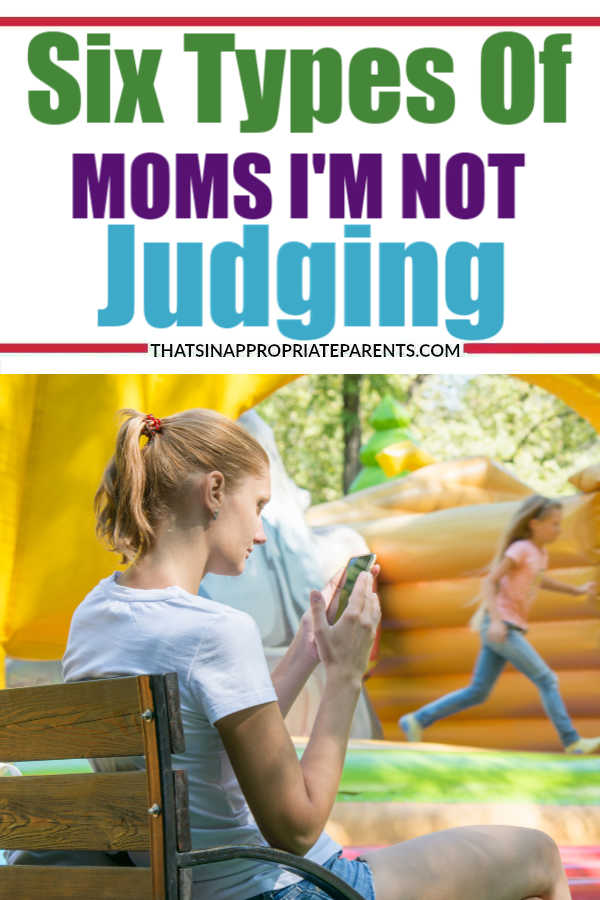 Let a mom live. The pinterest mom, the bento lunch box mom, the hot mess mom? I'm not over here judging anyone, and neither should you. #momlife #momshaming #judgment #motherhood #parenting #filterfreeparents