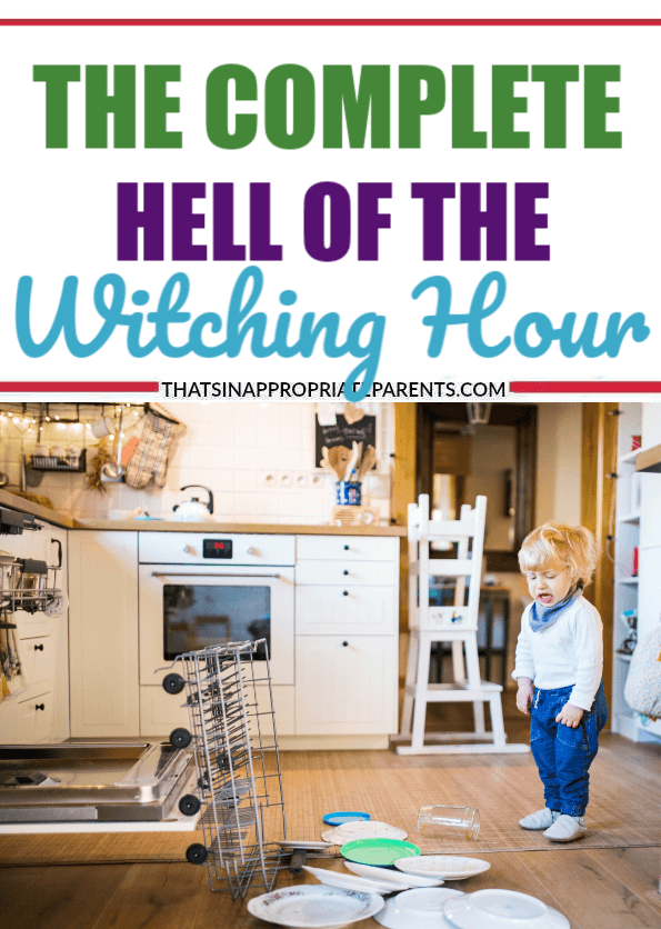 The witching hour—every home with babies and children has it. It's that time of the day where babies cry endlessly and big kids whine and fight nonstop. #witchinghour #momlife #parenting #toddlers #kids #motherhood