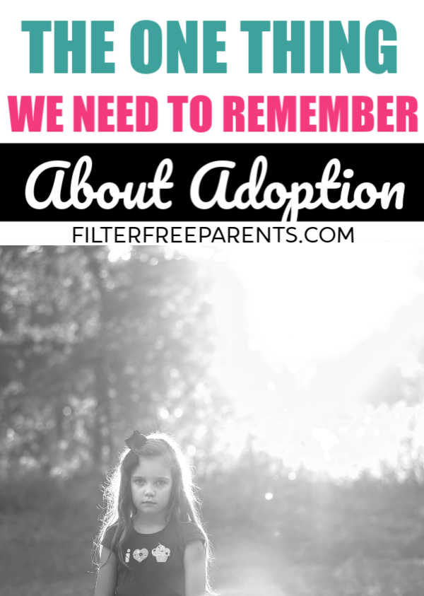 Adoption is usually a reason to celebrate, but there is a side to adoption that stems from loss. Here's one adoptee's perspective about the loss she feels being adopted. #adoption #family #filterfreeparents #adoptees #parenting #momlife