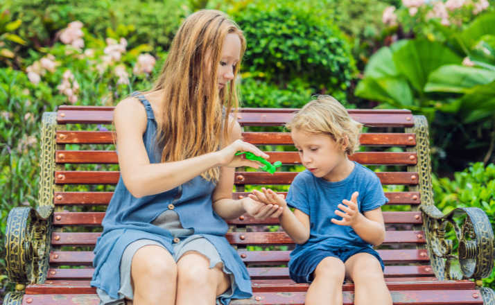 Is hand sanitizer ok to use on kids? There is conflicting information out there, but here's why one mom doesn't worry about sanitizing her kids. #handsanitizer #fliterfreeparents #motherhood #momlife #parenting