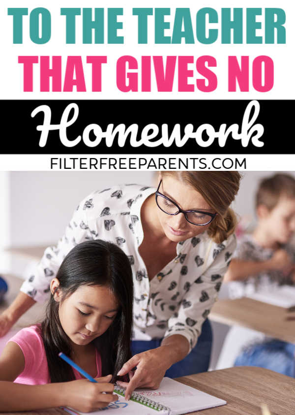 Down With Homework Teachers Viral Note >> To The Teacher Who Doesn T Give Homework Thank You Filter Free