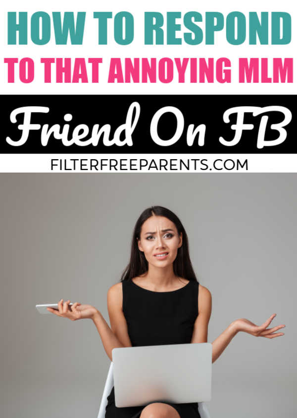 Do all those MLM private messages have you feeling shabby? Here's the perfect response to all your boss babe friends. #mlm #funny #filterfreeparents