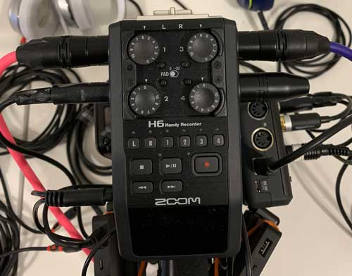Podcast Setup Digital Recorder