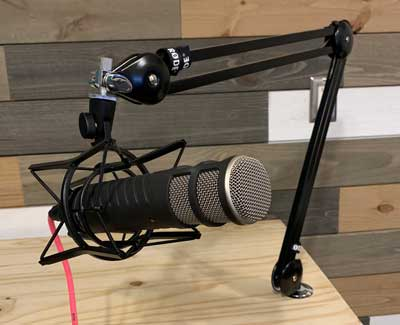 Podcast Setup Microphone