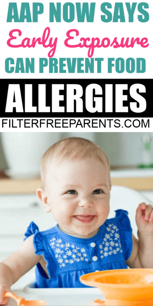 A new study by the american academy of pediatrics states that exposure to allergenic foods before the age of four months old can help prevent food allergies #foodallergies