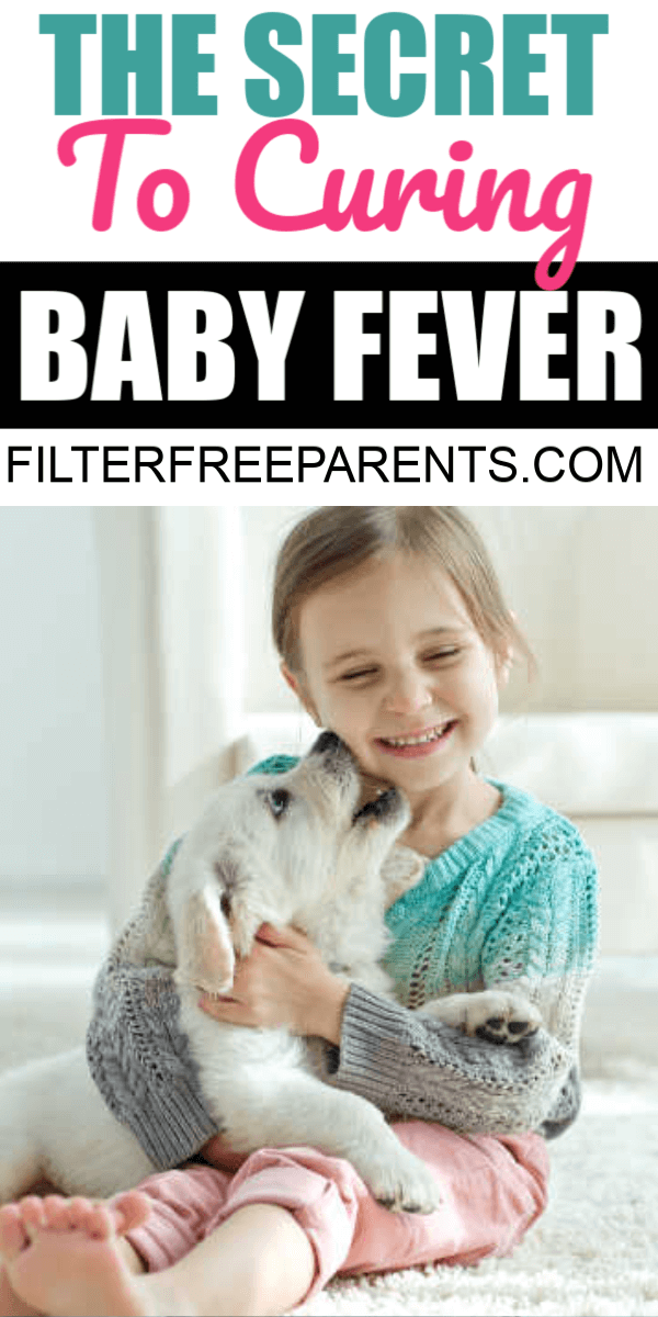 Struggling with the decision to have another baby? Have baby fever? Here is the number one secret to curing the baby fever. #babyfever #babies #filterfreeparents