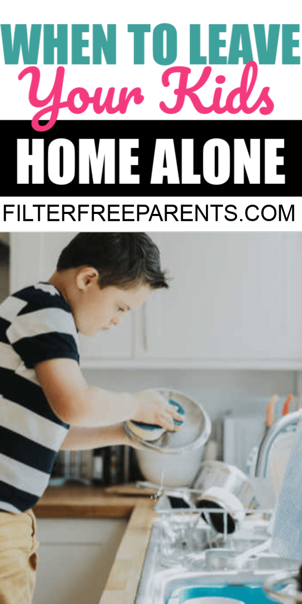 It's always tricky to know when to leave your kids home alone. What age is appropriate? How do you know if your kids are ready? Here are some things to consider when deciding when it's safe and legal to leave kids home alone. #filterfreeparents #homealone #parenting