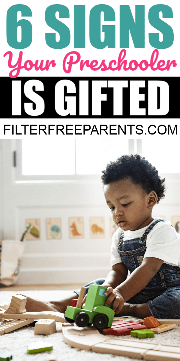 Would you know the signs if your child is gifted? How do you know in preschool aged children? One therapist shares signs that help her spot a gifted child. #gifted #preschooler #filterfreeparents