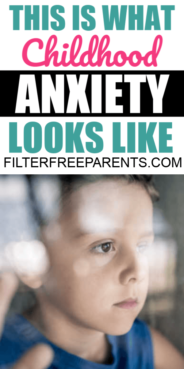 Childhood anxiety is real. Here are some tips to managing anxiety in kids and what works in the moment. #anxiouskids #anxiety #filterfreeparents