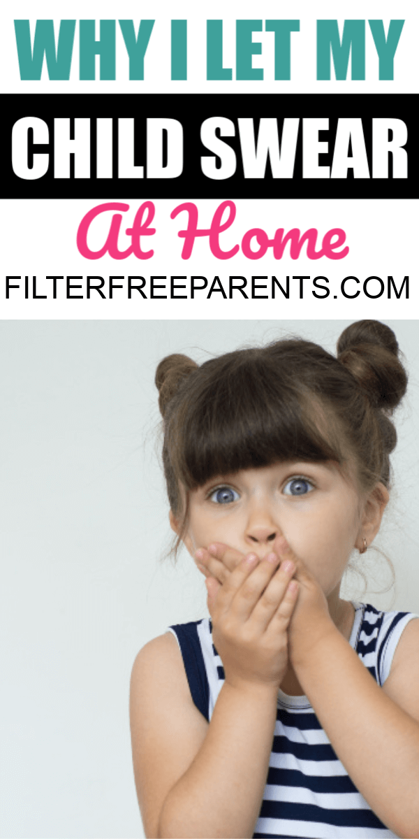 Kids are going to say bad words, curse, and swear. But, how should we react as the parents? Here's why I let men child swear at home. #kids #parentinghumor #filterfreeparents