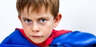A defiant 4 year old is constantly testing boundaries and your sanity. You can only hope that someday they will use their superpowers for good, not evil.