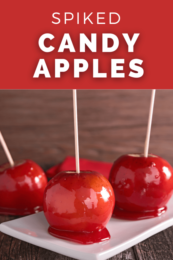 spiked candy apples