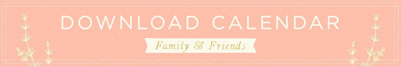 Family & Friends Calendar