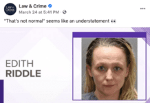 Mug shot of Edith Riddle from Law and Crime's Facebook page.